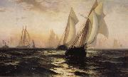 Anonymous Sailboat oil painting artist