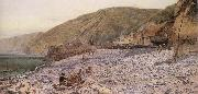 Charles Napier Hemy Among the Shingle at Clovelly oil painting artist