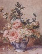 F.Rivoire Apple Blossoms with Peonies oil painting artist