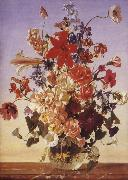 Franz Wolf Summer Bouquet oil painting artist