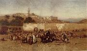 Louis Comfort Tiffany Market Day Outside the Walls of Tangiers oil painting artist