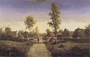 Pierre etienne theodore rousseau The Village of Becquigny oil painting artist