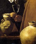 VELAZQUEZ, Diego Rodriguez de Silva y The Waterseller of Seville (detail) oil painting artist