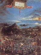 Albrecht Altdorfer The Battle at the Issus oil painting artist