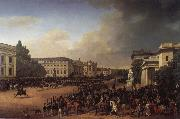 Franz Kruger Parade on Opernplatz in 1822 oil painting artist