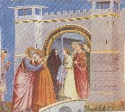 GIOTTO di Bondone Meeting at the Golden Gate oil painting artist