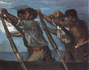 Hans von Maress Oarsmen.Study for a Fresco at the Zoological Station in Naples oil painting artist