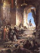 Henri Levy Bonaparte at the Great Mosque in Cairo oil painting artist