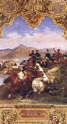 Horace Vernet The Battle Below the hills of Affroun oil painting artist