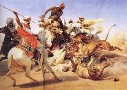 Horace Vernet Lion Hunt oil painting artist