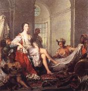 Jjean-Marc nattier Mademoiselle de Clermont at her Bath,Attended by Slaves oil painting artist