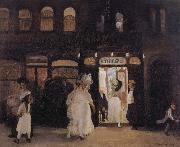 John sloan The Haymarket,Sixth Avenue oil painting artist