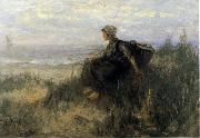 Jozef  Israels On the Dunes oil painting artist