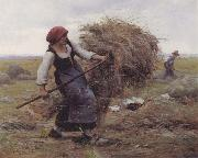 Julien  Dupre The Hay Gatherer oil painting artist