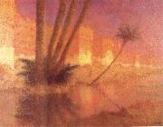 Lucien Levy-Dhurmer Twilight in Marrakesh oil painting artist
