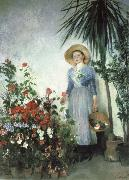 Olga Boznanska In the Hothouse oil painting artist