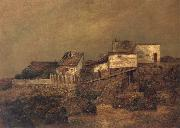 Ralph Blakelock Old New York Shanties at 55th Street and 7th Avenue oil painting artist