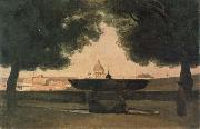 camille corot Fountain of the French Academy oil painting artist