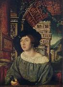 Ambrosius Holbein Portrait of a young man oil painting artist