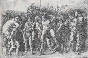 Andrea Mantegna A Bacchanal with Silenus oil painting artist