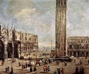 Antonio Stom View of the Piazza San Marco from the Procuratie Vecchie oil painting artist