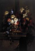Arellano, Juan de Basket of Flowers on a Plinth oil painting artist