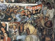 Diego Rivera Today and Future of Mexico oil painting artist