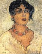 Diego Rivera Portrait of a girl oil painting artist