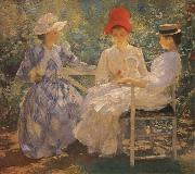 Edmund Charles Tarbell Three Sisters A Study in June Sunlight oil painting artist