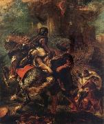 Ferdinand Victor Eugene Delacroix The Rap of Rebecca oil painting artist