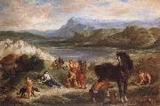 Ferdinand Victor Eugene Delacroix Ovid among the Scythians oil painting artist