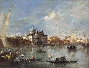 Francesco Guardi The Giudecca with the Zitelle oil painting artist