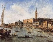 Francesco Guardi The Doge-s Palace and the Molo from the Basin of San Marco oil painting artist