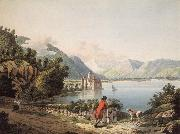 Francois-Hubert Drouais Seen Chateau of Chillon oil painting artist