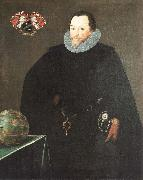 GHEERAERTS, Marcus the Younger Sir Francis Drake oil painting artist