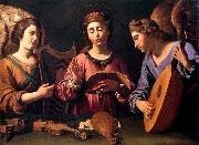 GRAMATICA, Antiveduto St Cecilia with Two Angels oil painting artist