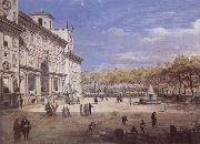Gaspar Van Wittel The Villa Medici in Rome oil painting artist