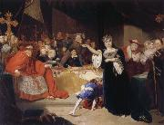 George Henry Harlow The Court for the Trial of Queen Katharine oil painting artist