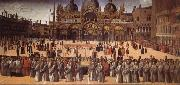 Giovanni Bellini Procession on the Piazza S. Marco oil painting artist