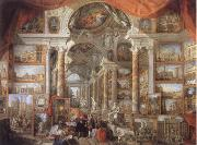 Giovanni Paolo Pannini Picture Gallery with views of Modern Rome oil painting artist