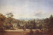 Henry Gritten Melbourne from the Botanical Gardens oil painting artist