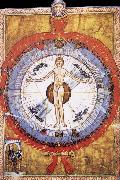Hildegard of Bingen Her Cosmiarcha,Coreadora and Parent of the Humanity and of humankind oil painting artist