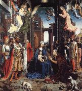 Jan Gossaert Mabuse THe Adoration of the Kings oil painting artist