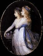 Jean Urbain Guerin Georgiana, Duchess of Devonshire, with Lady Elizabeth Foster oil painting artist