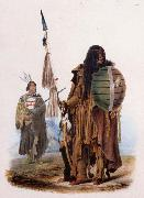 Karl Bodmer Assiniboin Indians oil painting artist