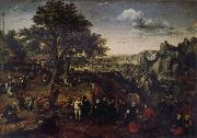 Lucas van Valckenborch Landscape with Village Festival oil painting artist