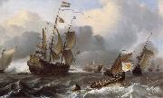 Ludolf Backhuysen Detail of THe Eendracht and a Fleet of Dutch Men-of-War oil painting artist