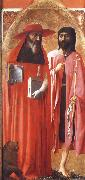 MASACCIO Saints Jerome and john the Baptist oil painting artist