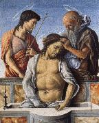 Marco Zoppo THe Dead Christ with Saint John the Baptist and Saint Jerome oil painting artist