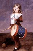 Martin  Drolling Portrait of the Artist-s Son as a Drummer oil painting artist